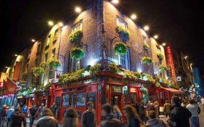 Temple Bar, the heart of Dublin nightlife