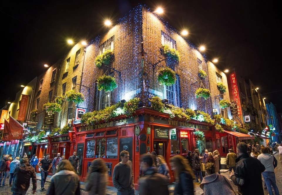 Temple Bar, the heart of Dublin nightlife
