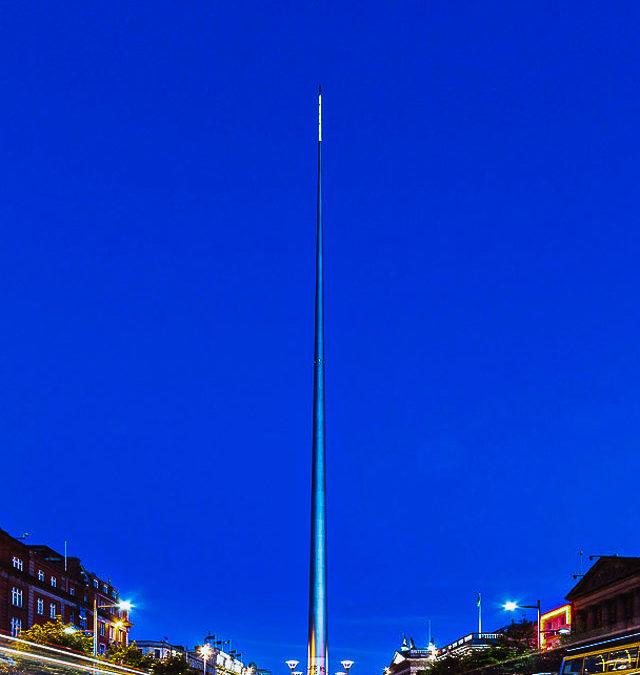 The Spire of Dublin, the monument of light