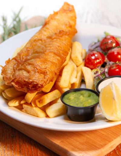 Dublin Citi Hotel Fish and chips